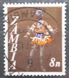 Poštovní známka Zambie 1968 Tanečník kmene Vimbuza Mi# 43