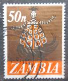 Poštovní známka Zambie 1968 Tanečník kmene Chokwe Mi# 48