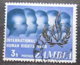 Poštovní známka Zambie 1968 Mezinárodní rok lidských práv Mi# 52
