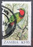 Poštovní známka Zambie 1987 Ťuhýkovec čtyřbarvý Mi# 399 Kat 5€