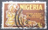 Poštovní známka Nigérie 1976 Tradiční africké hudební nástroje Mi# 326