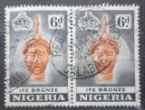 Poštovní známky Nigérie 1953 Bronzová socha pár Mi# 78