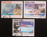 Poštovní známky Džibutsko 1984 Louis Blériot a letadla Mi# 413-15