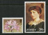 Poštovní známky Jersey, Velká Británie 1986 Lilie Mi# 372-73