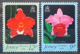 Poštovní známky Jersey, Velká Británie 1984 Vánoce, orchideje Mi # 340-41