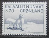 Poštovní známka Grónsko 1984 Lední medvěd, kresba, Karale Andreassen Mi# 147