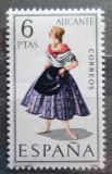 Poštovní známka Španělsko 1967 Lidový kroj Alicante Mi# 1664