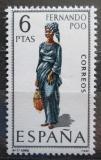 Poštovní známka Španělsko 1968 Lidový kroj Fernando Póo Mi# 1758
