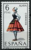 Poštovní známka Španělsko 1967 Lidový kroj Alava Mi# 1662