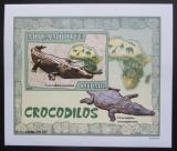 Poštovní známka Mosambik 2007 Krokodýli DELUXE neperf. Mi# 2984 B Block