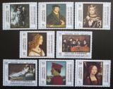 Poštovní známky Aden Qu'aiti 1967 Umění, Rok turistiky Mi# 169-76 Kat 15€
