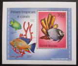 Poštovní známka Guinea-Bissau 2010 Tropické ryby a korály DELUXE Mi# 5073 Block