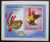 Poštovní známka Guinea-Bissau 2010 Tropické ryby a korály DELUXE Mi# 5077 Block