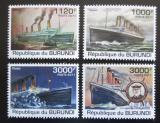 Poštovní známky Burundi 2011 Titanic Mi# 2170-73 Kat 9.50€