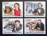 Poštovní známky Burundi 2011 Světoví šachisti Mi# 2250-53 Kat 9.50€