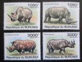 Poštovní známky Burundi 2011 Nosorožci Mi# 2110-13 Kat 9.50€