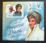 Poštovní známka Burundi 2012 Princezna Diana neperf. Mi# Block 257 B