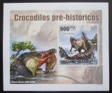 Poštovní známka Guinea-Bissau 2010 Prehistoričtí krokodýli DELUXE Mi# 5213 B Block