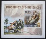 Poštovní známka Guinea-Bissau 2010 Prehistoričtí krokodýli DELUXE Mi# 5214 B Block