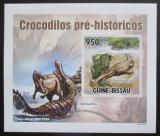 Poštovní známka Guinea-Bissau 2010 Prehistoričtí krokodýli DELUXE Mi# 5215 B Block