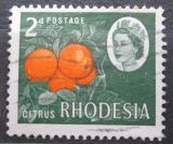 Poštovní známka Rhodésie, Zimbabwe 1966 Pomeranče Mi# 25