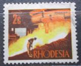 Poštovní známka Rhodésie, Zimbabwe 1970 Slévárna Mi# 89
