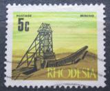 Poštovní známka Rhodésie, Zimbabwe 1970 Těžební věž Mi# 92