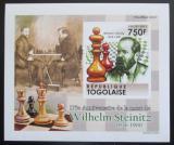 Poštovní známka Togo 2011 Wilhelm Steinitz neperf. Mi# 4011 B Block