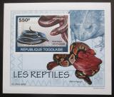 Poštovní známka Togo 2010 Obojživelníci a plazi Mi# 3419 B Block