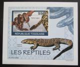 Poštovní známka Togo 2010 Obojživelníci a plazi Mi# 3420 B Block