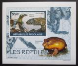 Poštovní známka Togo 2010 Obojživelníci a plazi Mi# 3421 B Block
