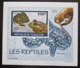 Poštovní známka Togo 2010 Obojživelníci a plazi Mi# 3422 B Block