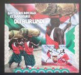 Poštovní známka Burundi 2012 Bubeníci a tanečníci neperf. Mi# Block 263 B
