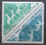 Poštovní známky Čad 1962 Skalní malby, úřední Mi# 25-26