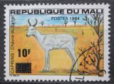 Poštovní známka Mali 1984 Saharská koza přetisk Mi# 1001