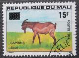 Poštovní známka Mali 1984 Kozel přetisk Mi# 1002