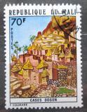 Poštovní známka Mali 1974 Obydlí Dogon Mi# 455