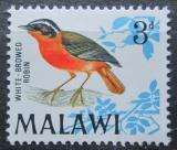 Poštovní známka Malawi 1968 Drozdík bělobrvý Mi# 94