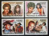 Poštovní známky Burundi 2011 Herci Mi# 2166-69 Kat 9.50€