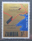 Poštovní známka Zambie 1967 Národní rozvoj, mapa Mi# 37