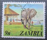 Poštovní známka Zambie 1975 Slon Mi# 147