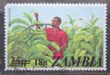 Poštovní známka Zambie 1979 Sběr tabáku přetisk Mi# 199