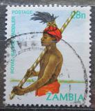 Poštovní známka Zambie 1981 Domorodec Mi# 256