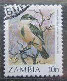 Poštovní známka Zambie 1987 Leskoptev bělokřídlá Mi# 386
