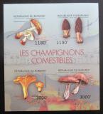 Poštovní známky Burundi 2012 Jedlé houby neperf. Mi# 2738-41 B