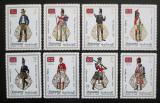 Poštovní známky Manáma 1971 Britské vojenské uniformy přetisk Mi# 824-31