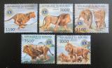 Poštovní známky Burundi 2012 Lvi Mi# 2828-32 Kat 10€