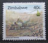 Poštovní známka Zimbabwe 1995 Těžba železné rudy Mi# 546