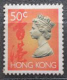 Poštovní známka Poštovní známka Hongkong 1992 Královna Alžběta II. Mi# 655