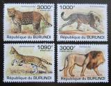 Poštovní známky Burundi 2011 Kočkovité šelmy Mi# 2022-25 Kat 9.50€